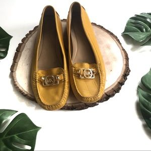 Michael Kors Gold Mustard Yellow Molly Loafers!